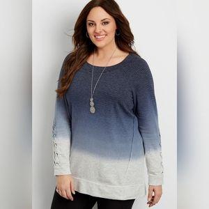 Maurices Dip Dye Tunic Sweatshirt